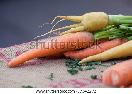 Root Vegetables for Sale at Farmers Market