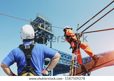 rope access, foreman operation control training the abseiling from the height