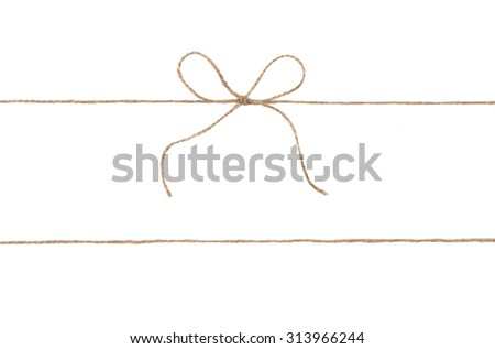 Rope and bow isolated on white. #313966244