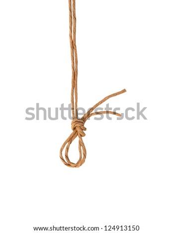 rope bow isolated on white background