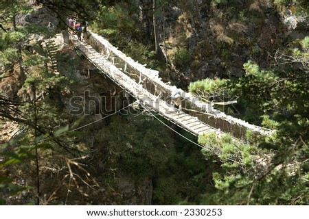 Rope Bridge on the Everest Trail