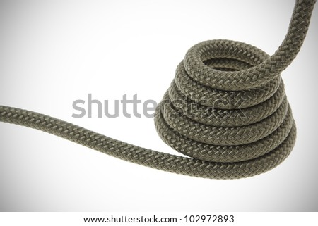 Rope cone. Isolated on white background