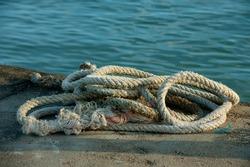 rope for Fisherman boat's located at Terengganu deck, port