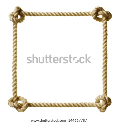 Rope frame stock photo 144667787 shutterstock Rope photo frame