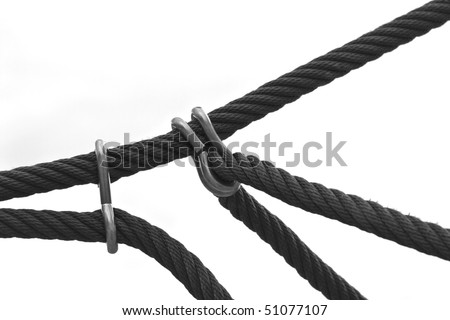 rope in an isolated detail