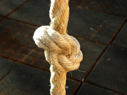 Rope knot. As a strong sea line, interconnected as a symbol of trust and faith and a metaphor for strength or stress.