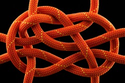 rope knot isolated on black background