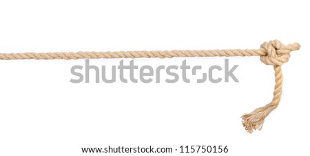 Photo of  Rope knot isolated on white