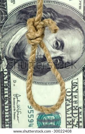 rope loop on big dollar background