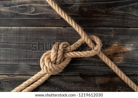 Rope loop. Rope knot. #1219612030