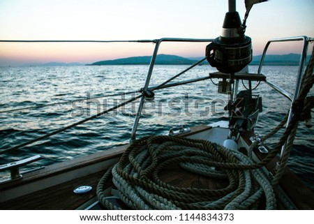 rope on a boat #1144834373