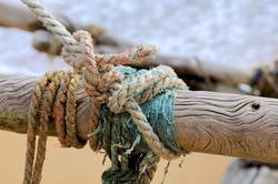 Rope on fishing ship. Sri Lanka island