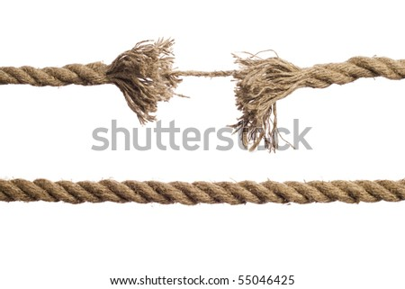 Rope on the isolated white background