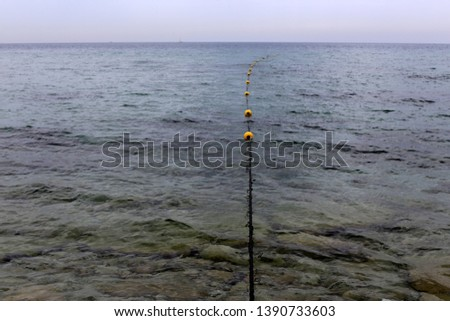 rope on the shores of the Mediterranean #1390733603