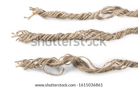 Rope, strings isolated on white background and texture