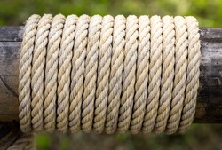 Rope tie with bamboo.