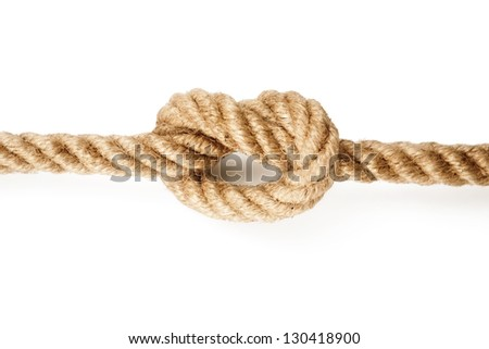 Rope with a Tied Knot