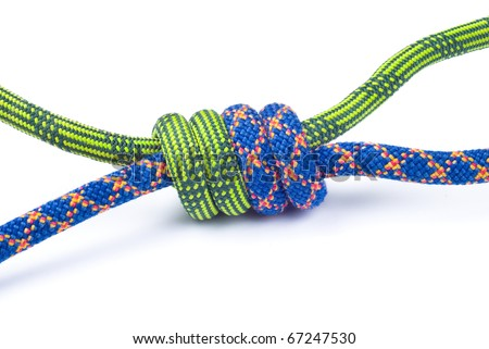rope with knot isolated on white background