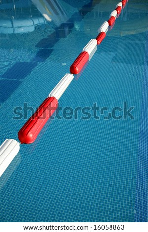 Rope With Plastic Anchor Buoys In A Swimming Pool Stock Photo 16058863 Shutterstock