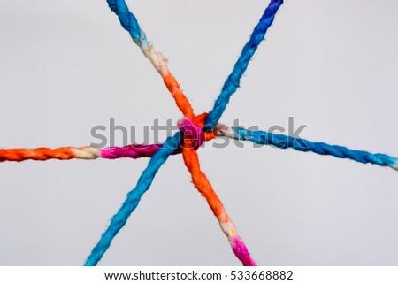 Ropes isolated on white background