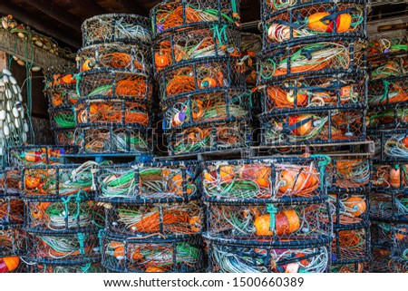Ropes Nets and Floats in Fishermans Storage Shed