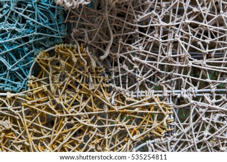 Ropes tied with wire frame #535254811