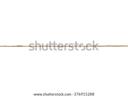 ropes with knot isolated on white background #376915288