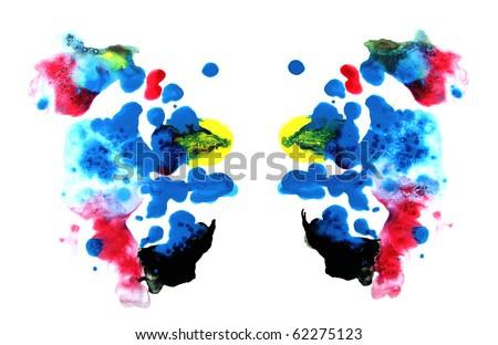 Rorschach test: colorful symmetric painting