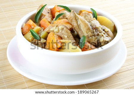Ros-ted vegetable with chicken Photo stock ©