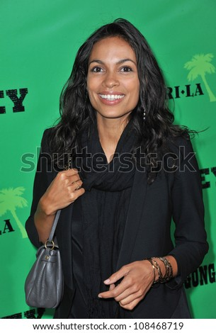 Rosario Dawson at the Los Angeles premiere of Marley at the Cinerama Dome, Hollywood. April 17, 2012  Los Angeles, CA Picture: Paul Smith / Featureflash