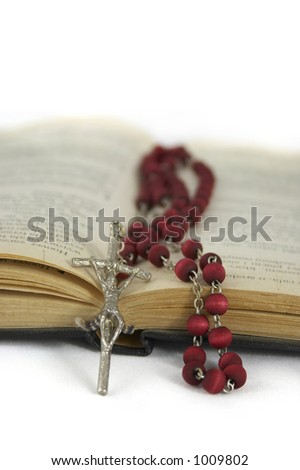 rosary and the Bible