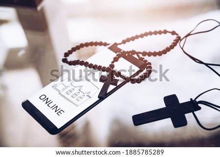 Rosary, Catholic cross, information on Holy Masses online.