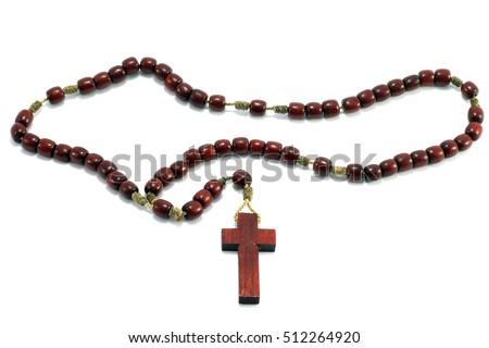 rosary isolated on white background #512264920