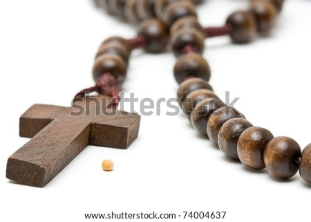 Rosary with mustard seed - symbol of faith