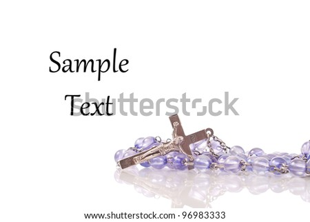 Rosary with Space for Custom Text