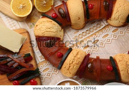 Rosca de Reyes traditional Mexican vread Foto stock ©