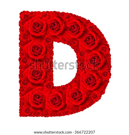 H Letter In Rose Royalty-free Rose alph...