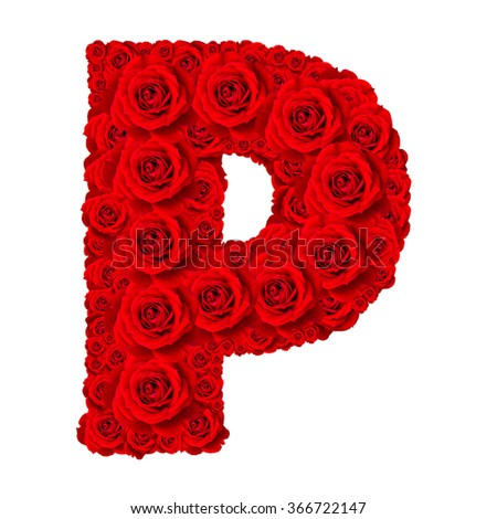 Z Alphabet In Rose Rose alphabet set - Alphabet capital letter P made from red rose ...