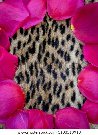 Rose and leopard print