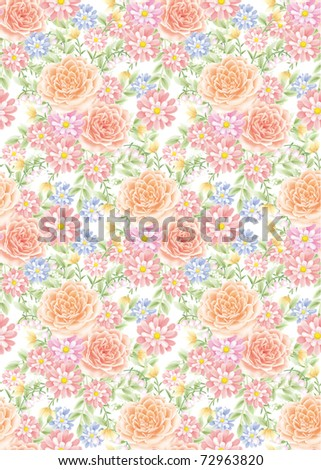rose background , seamless for spring style design pattern