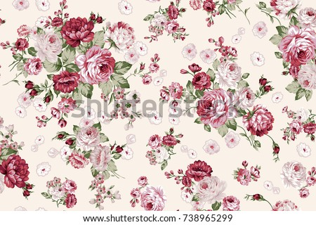 Rose bouquet flower pattern