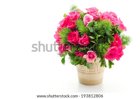 Rose bouquet isolated on white #193812806
