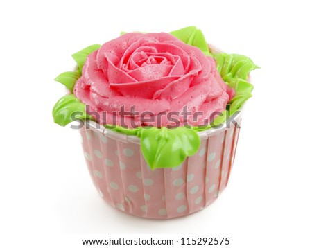 rose cup-cake