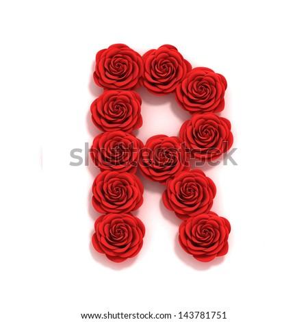 rose font letter R  R Letter In Rose