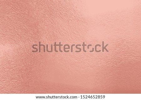 Rose gold cement texture background. Retro shiny wall surface, polished metal, steel texture, highly detailed copy space for any design.