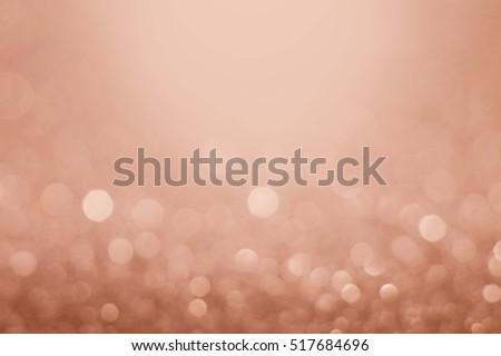 rose gold festive abstract glitter bokeh background