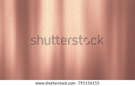 Rose gold textured background, Golden metal sheet