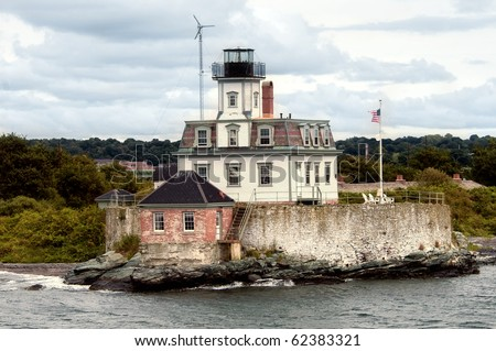 Rose Island Lighthouse in Newport, Rhode Island