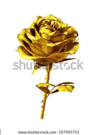 rose made of gold