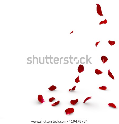 rose petals fall to the floor....